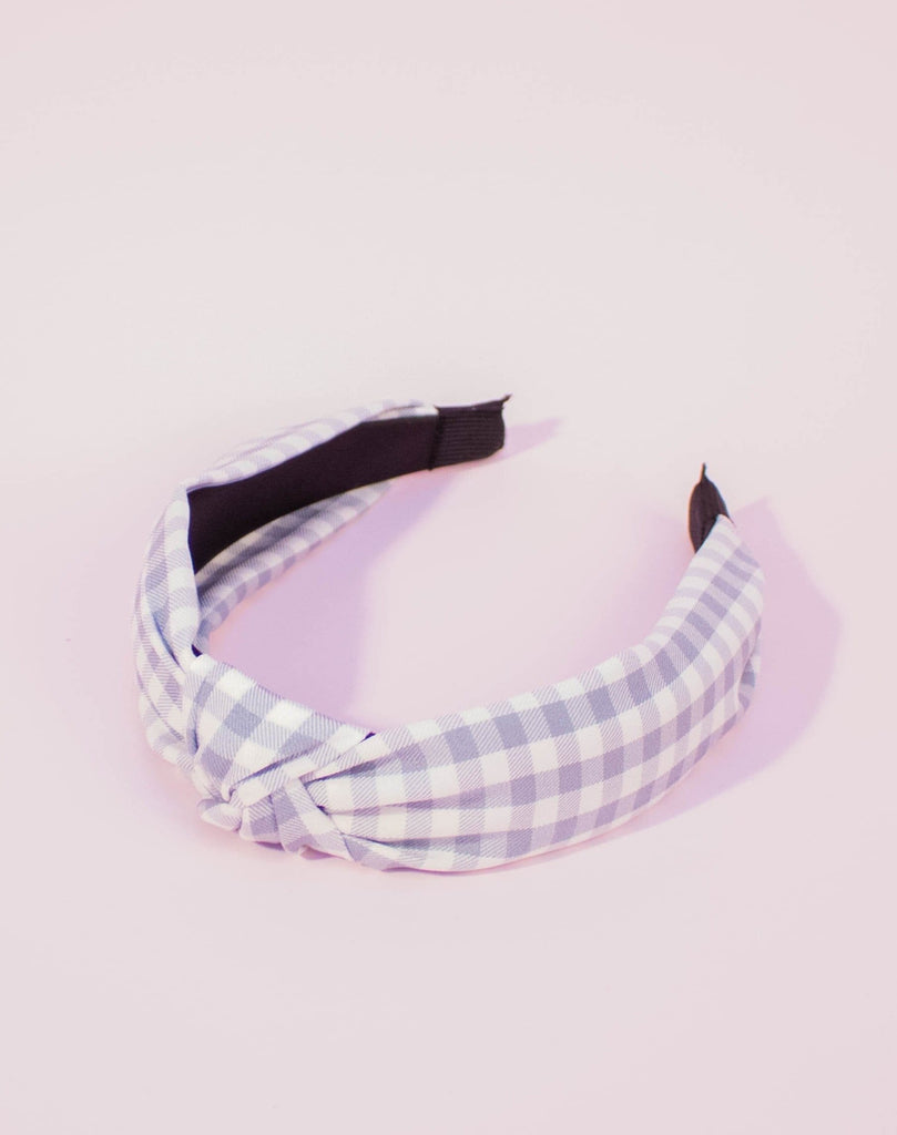 Top Knot Gingham Headband