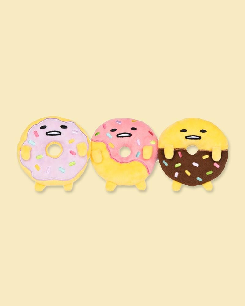 GUDETAMA© 3 Piece Donut Collector Set Plush