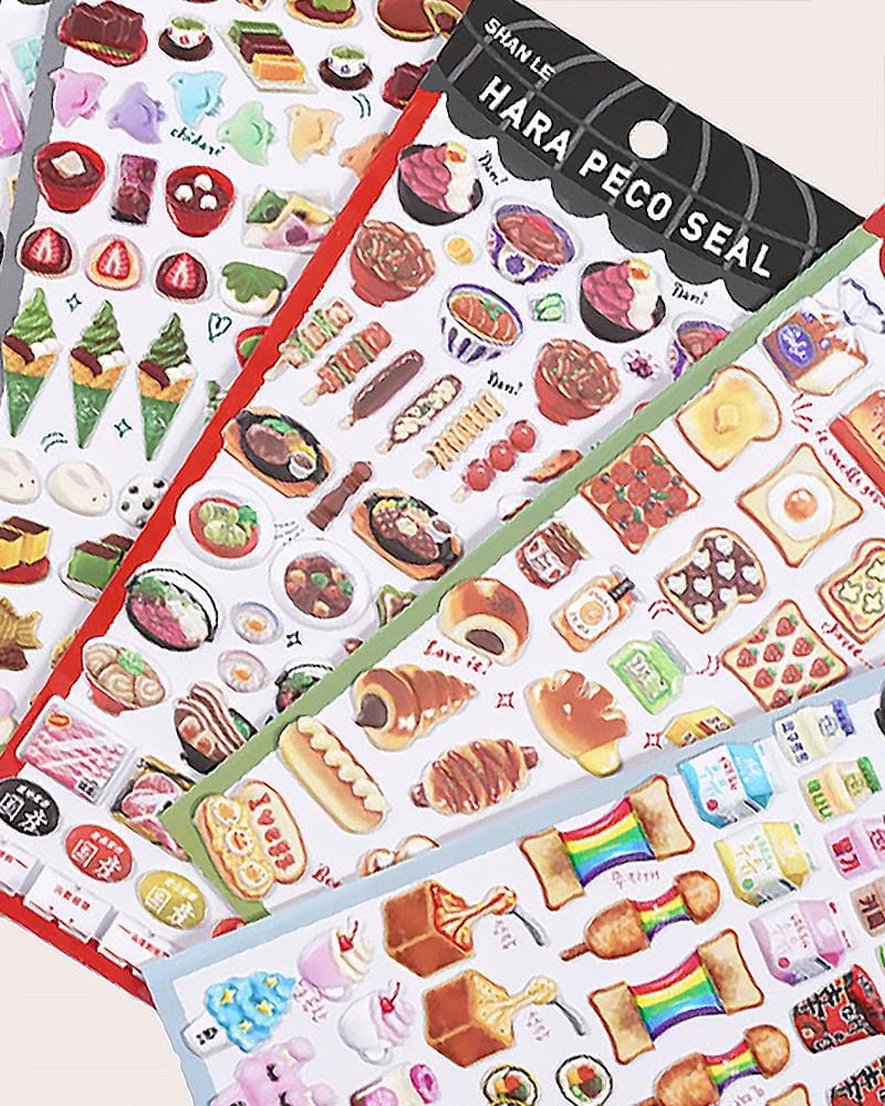 Hara Peco Yummy Food Stickers