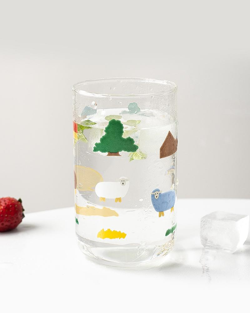 Shop Sukoshi Hotzilla Sheep and Landscape Glass Cup