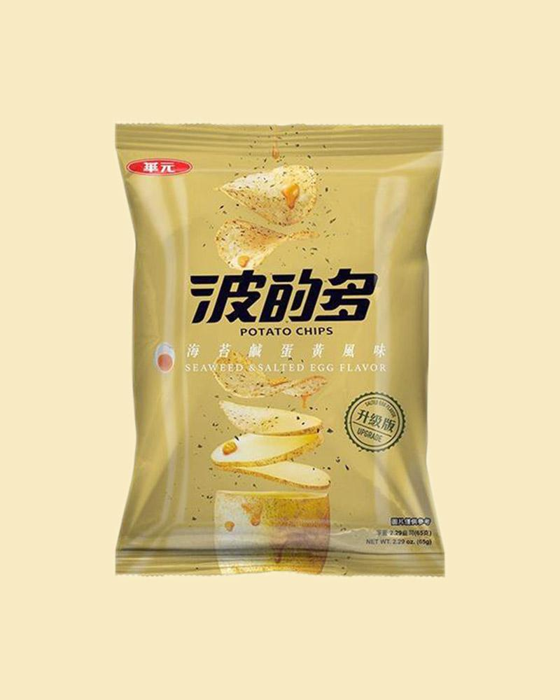Huayuan Seaweed & Salted Egg Yolk Potato Chips