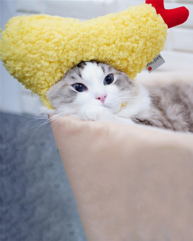 Shop Kashima Ebi Tempura Pet Hat cat wearing hat