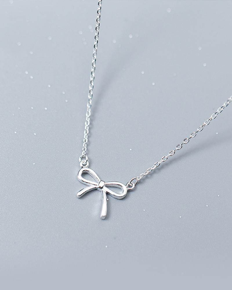Shop Sukoshi Lovely Bowtie Necklace Sterling Jewelry Collection