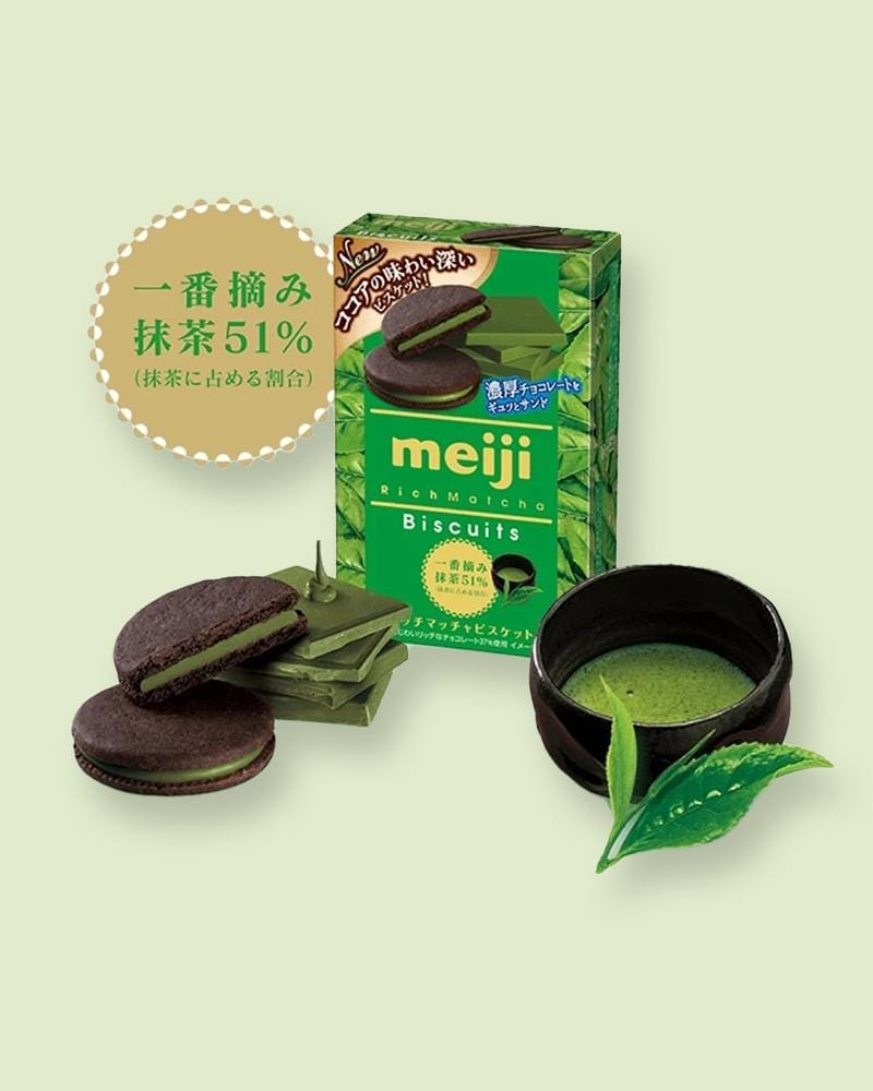 Shop Meiji Rich Matcha Biscuits