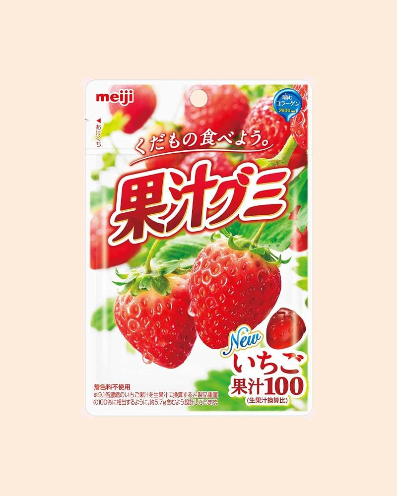 Meiji Strawberry Collagen 100% Fruit Gummy