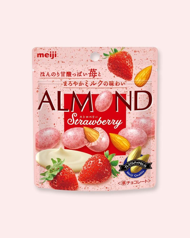 Shop Meiji Strawberry Milk Almond Chocolate