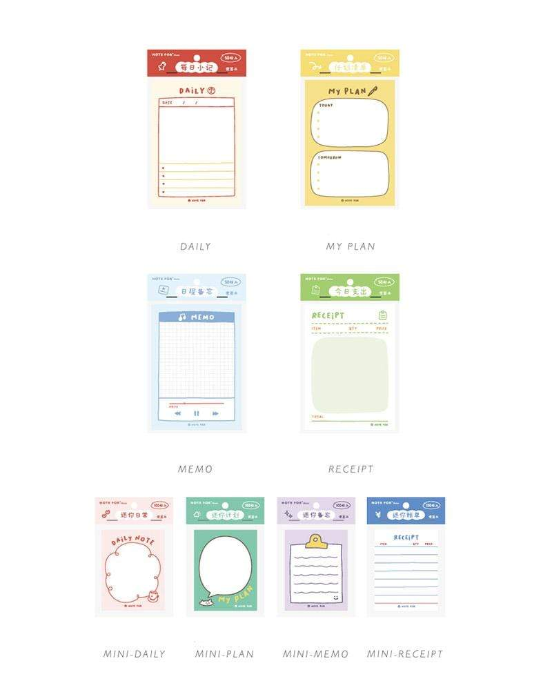 Shop NOTE FOR Everyday Notepad Styles