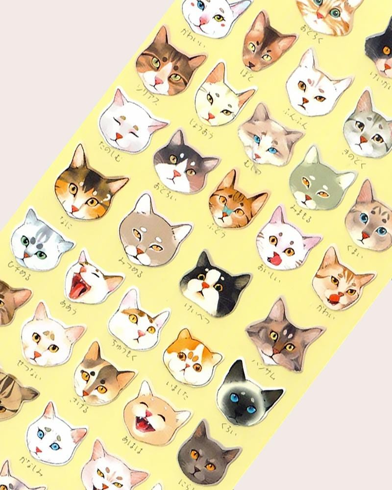 Nekoni Original Designs Cat Mood Stickers