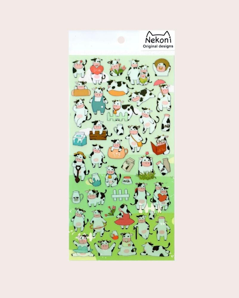 Nekoni Original Designs Cow Stickers