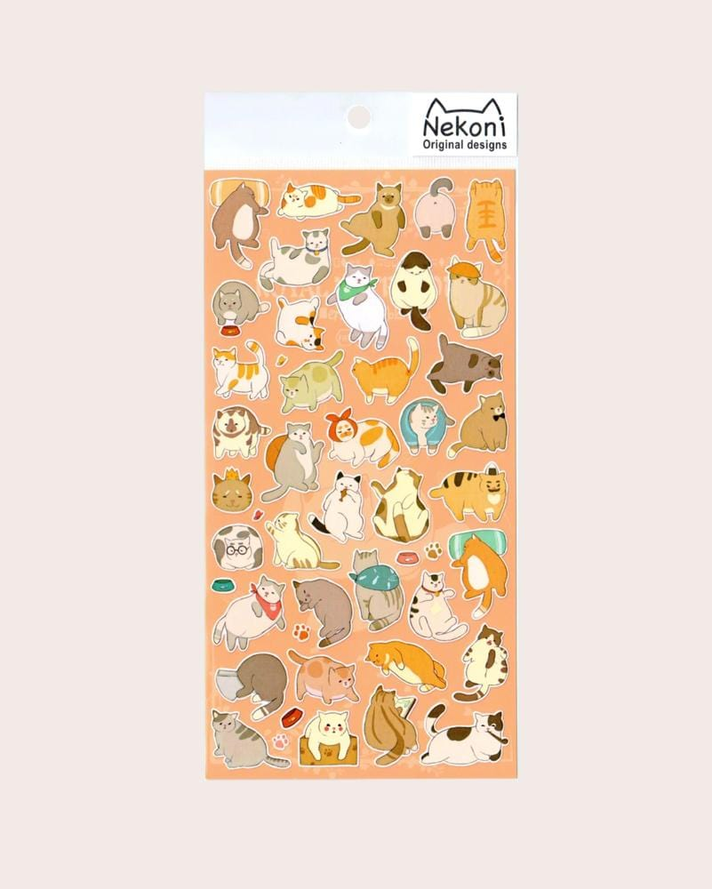 Nekoni Original Lounging Cats Stickers