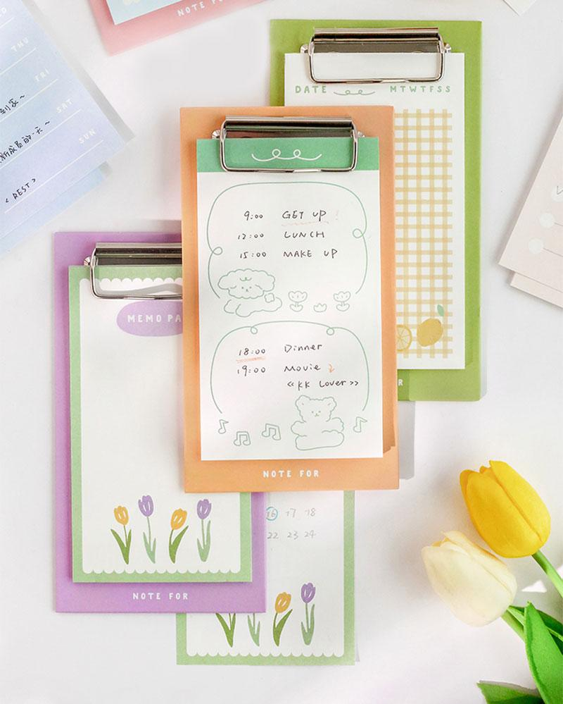 Make note taking fun with the Note For Memo Inspiration & Love Clipboard!