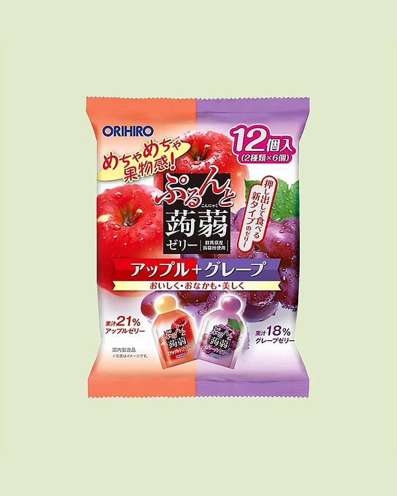 Orihiro Apple & Grape Konjac Jelly Snack