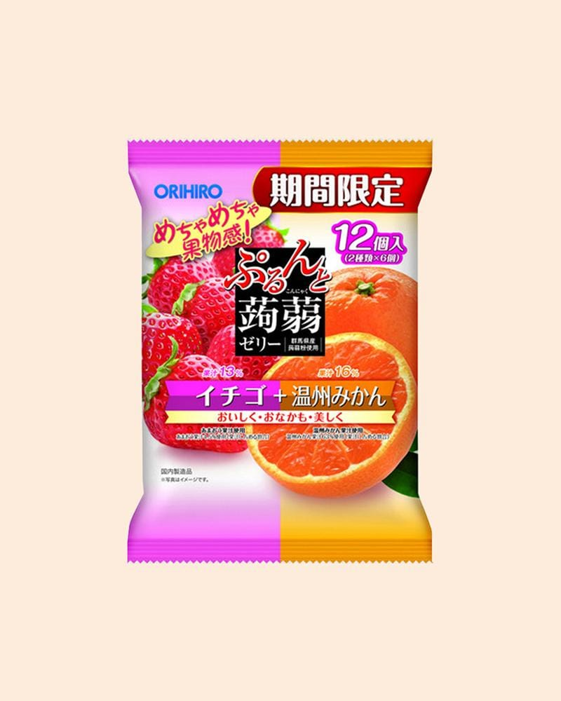Orihiro Strawberry & Orange Konjac Jelly Snack