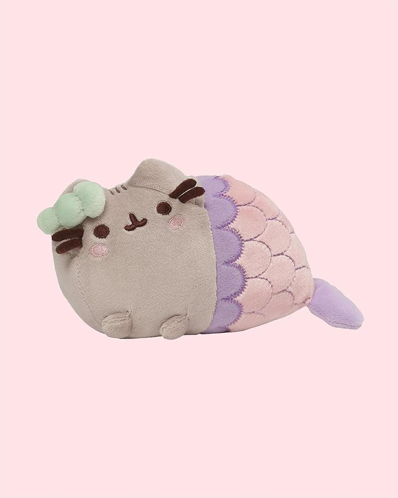 "PUSHEEN© Mermaid with Green Shell 7"" Plush"