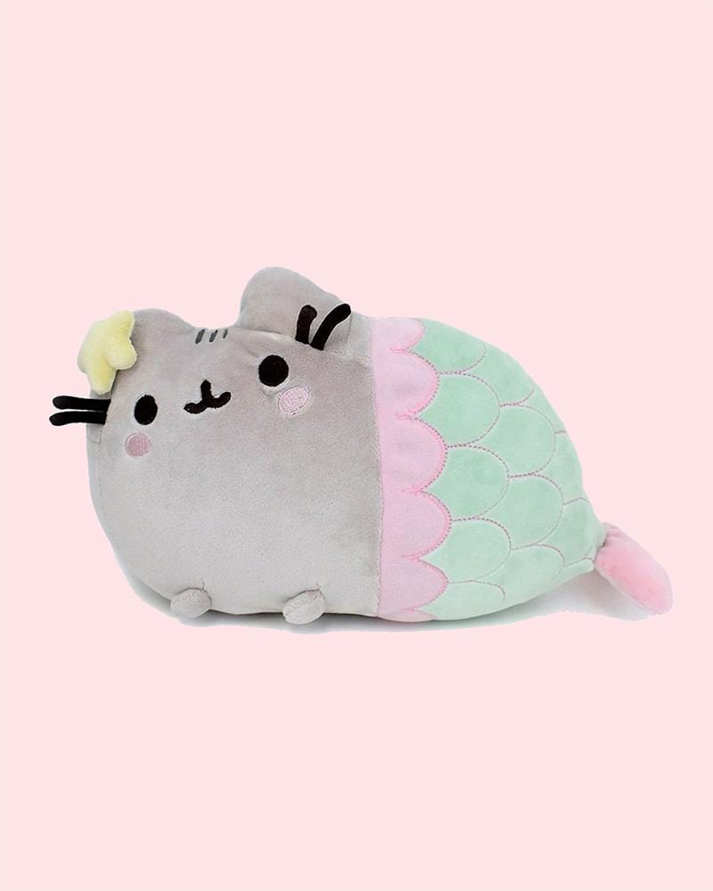 "PUSHEEN© Mermaid with Golden Shell 12"" Plush"