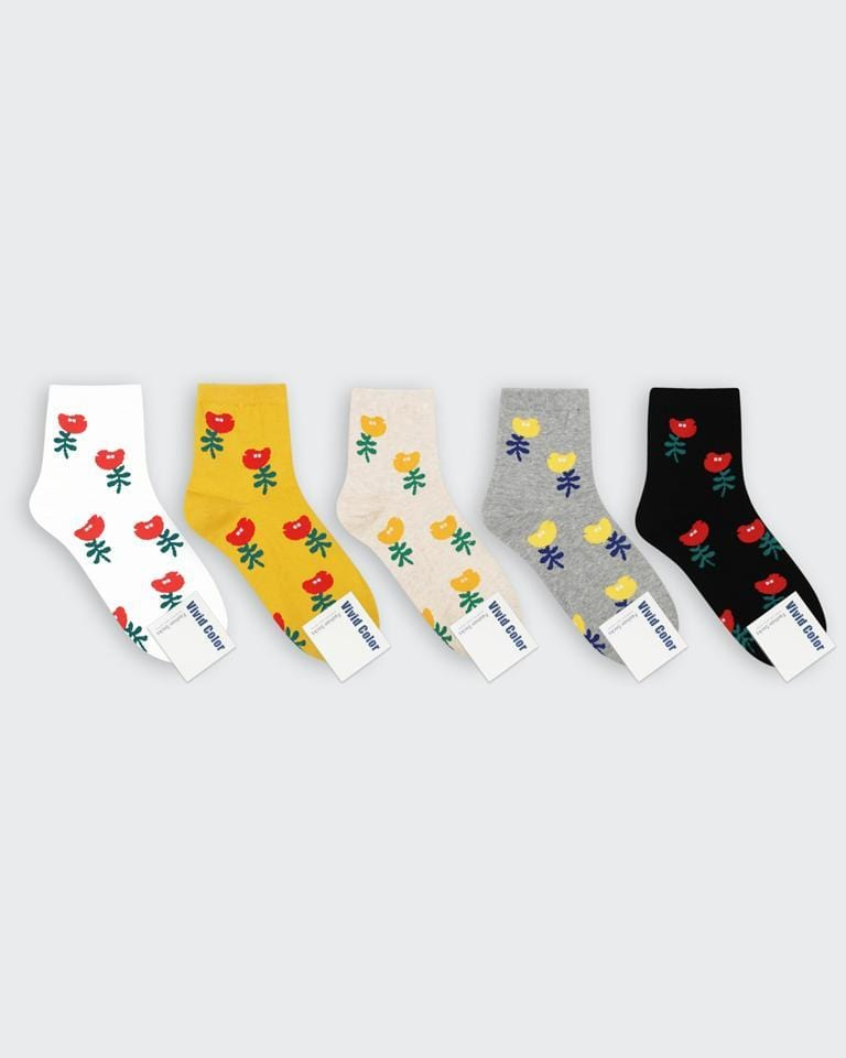buy cute kawaii japanese point flower socks