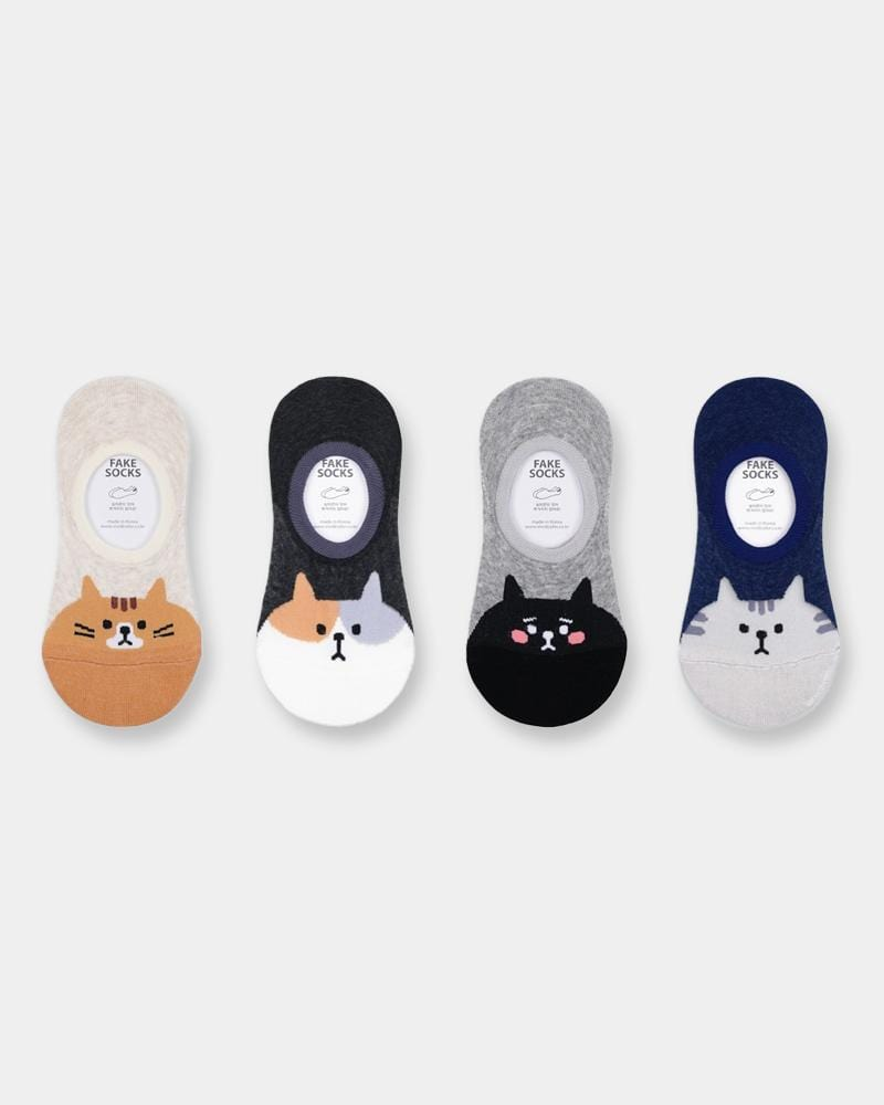 Shop Pudgy Cat No Show Socks
