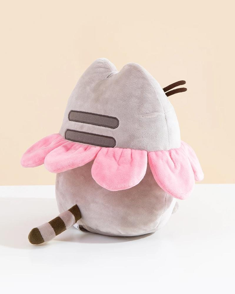 "Pusheen Flower Petal Plush 9.5"" Back View"