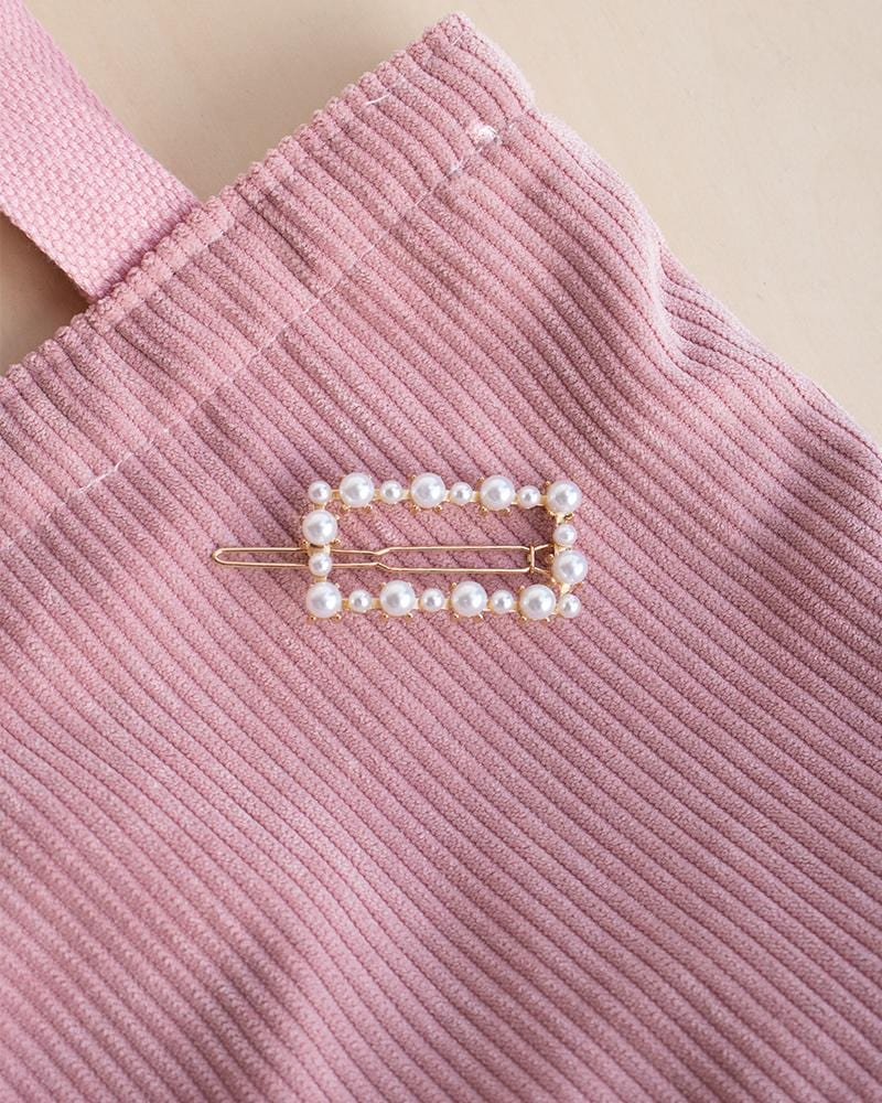 Rectangle Pearl Barrette
