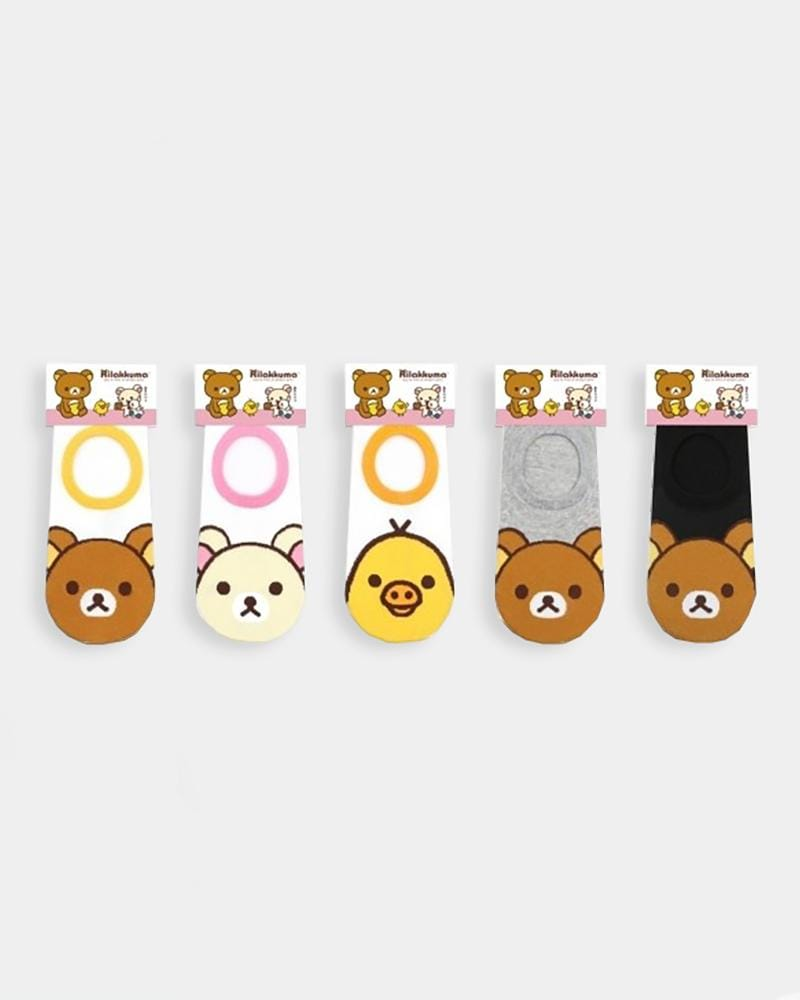 Rilakkuma Face No-Show Socks
