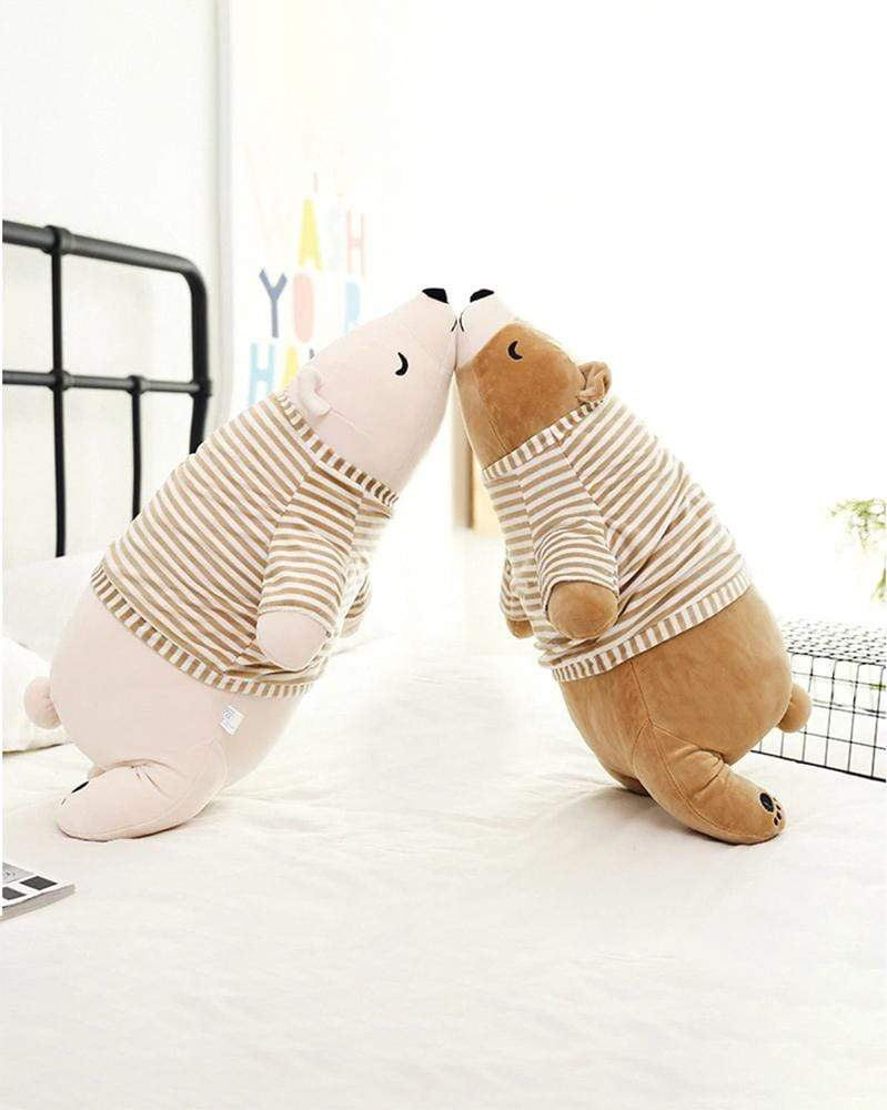 Shop Sleepy Pajama Bear Plush Pillow in Beige and Brown