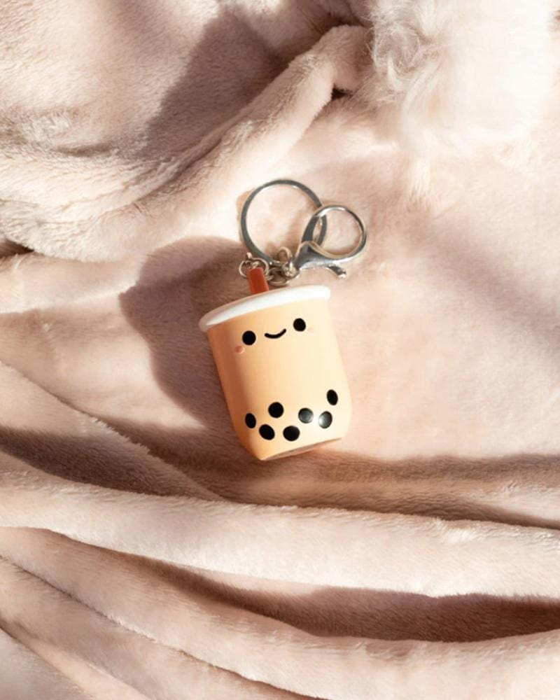 Smoko Pearl Boba Tea Light-Up Keychain