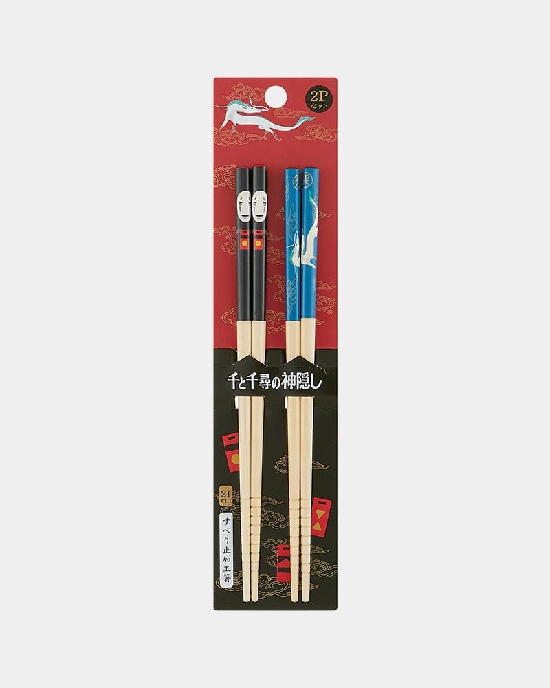 Shop Studio Ghibli Spirited Away Bamboo Chopstick Set 2pc No Face and Haku with Packaging