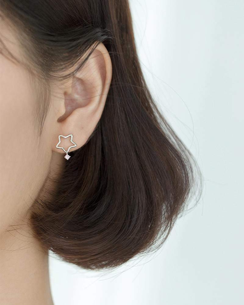 shop sukoshi Starlight Mini Stud Earrings sterling jewelry collection shown on model