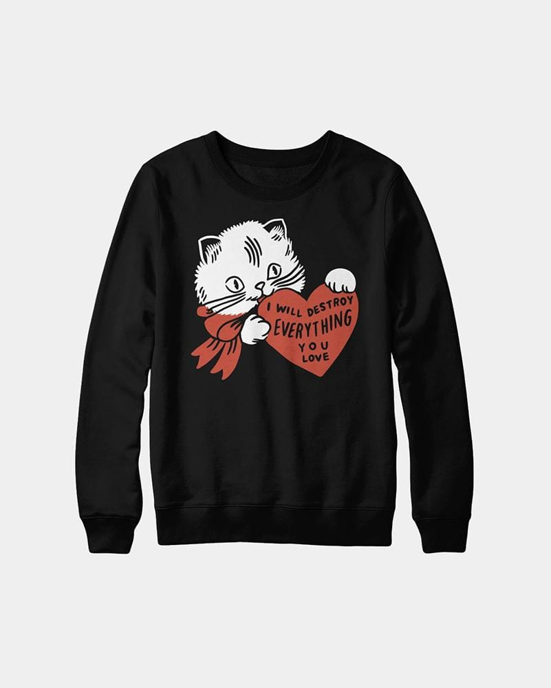 Stay Home Club Destroy Cat Crewneck sweatshirt