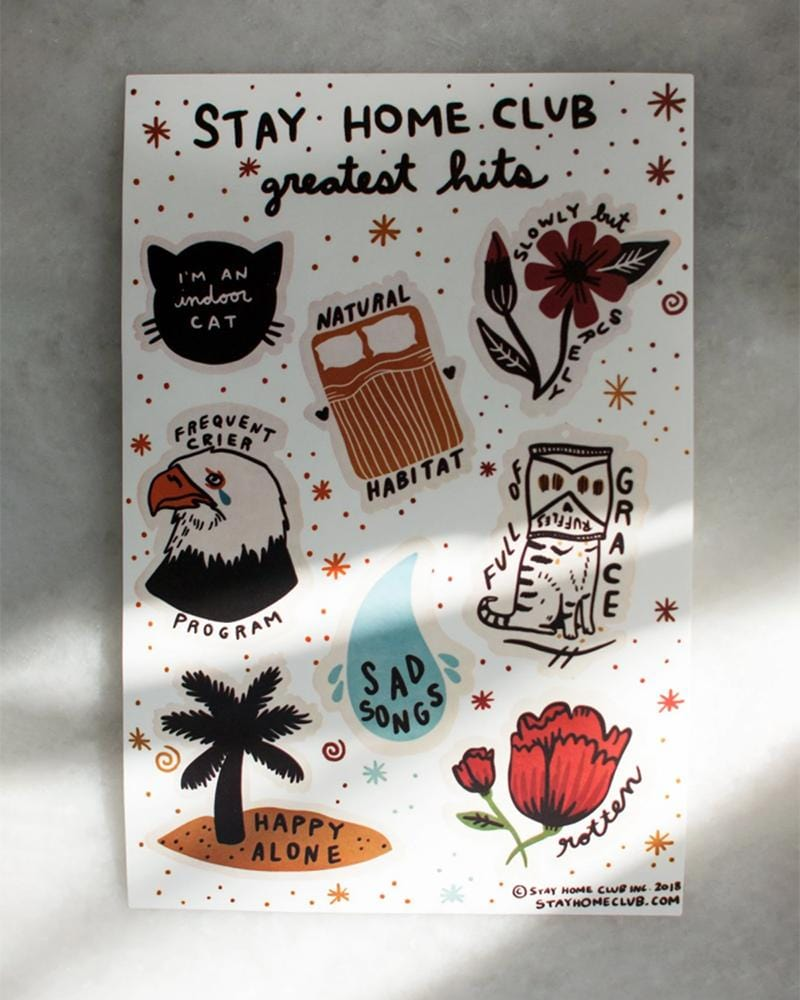 Shop Stay Home Club Greatest Hits Vinyl Sticker Sheet