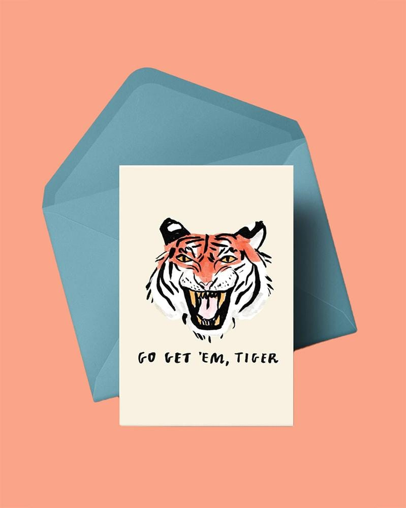 Stay Home Club Greeting Cards Go Get 'em, Tiger