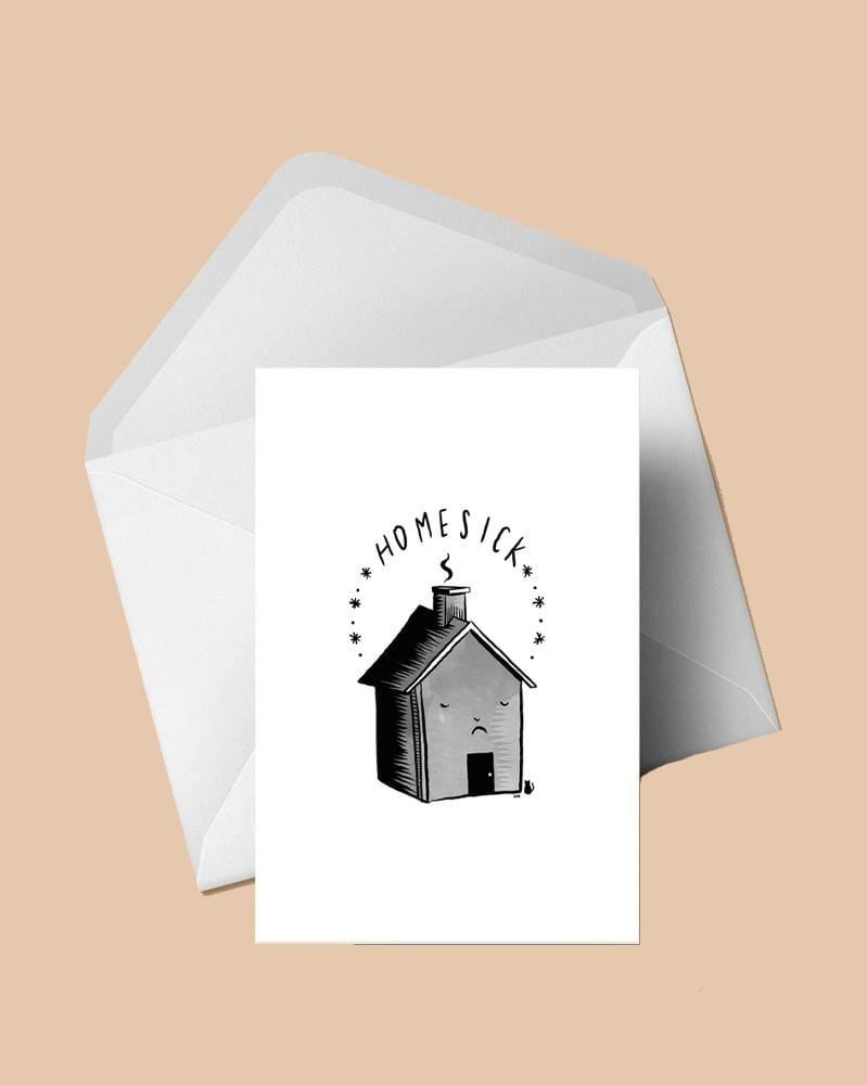 Stay Home Club Greeting Cards Homesick