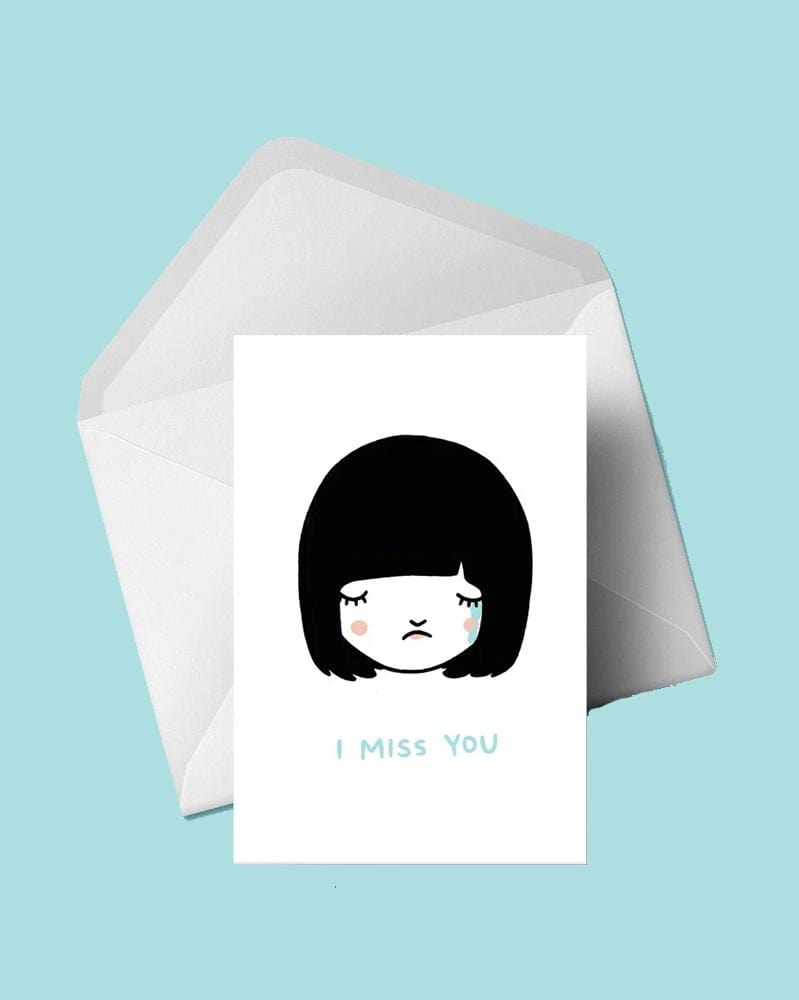 Stay Home Club Greeting Cards I Miss You