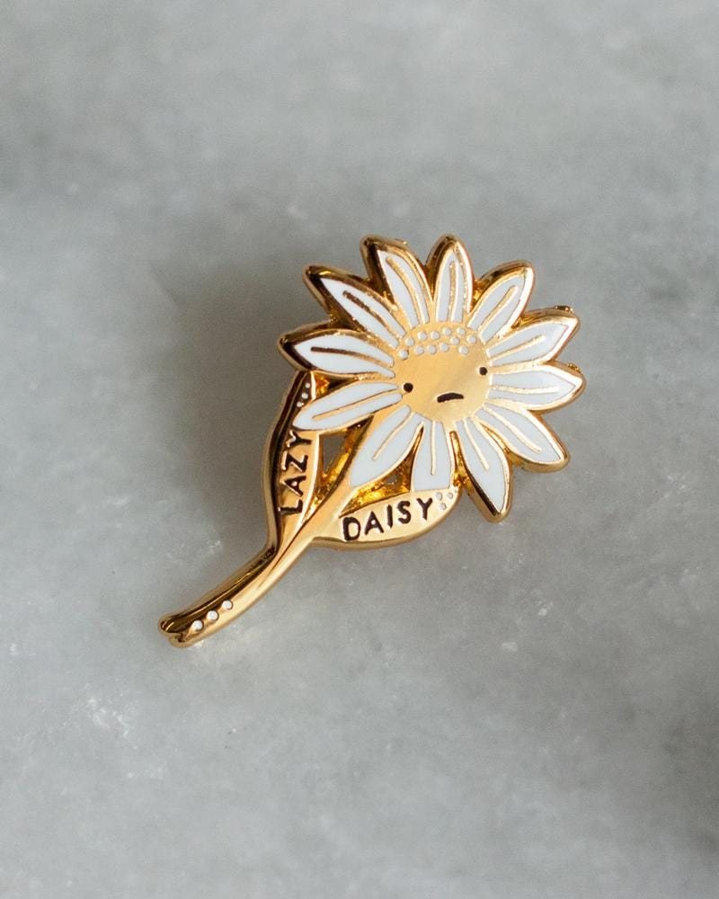 Stay Home Club Lazy Daisy Lapel Pin