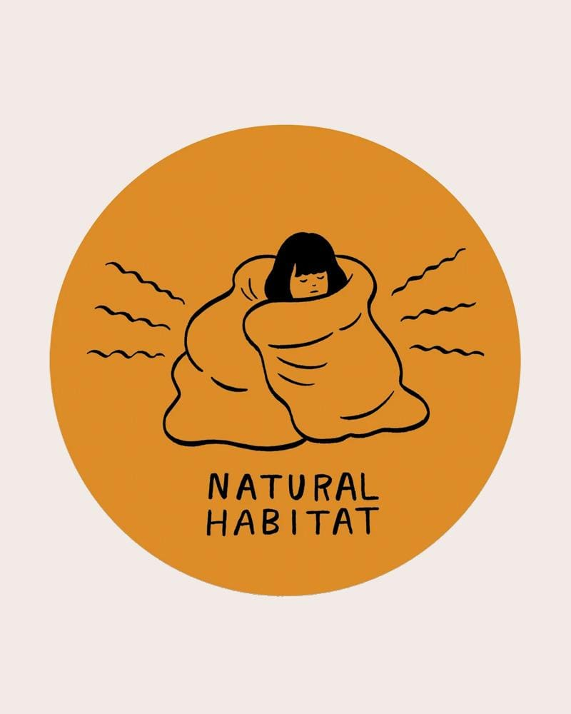 Stay Home Club Natural Habitat Vinyl Sticker