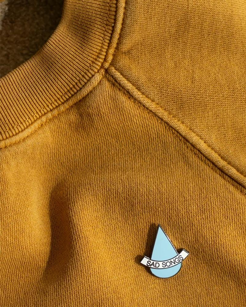 Stay Home Club Sad Songs Lapel Pin