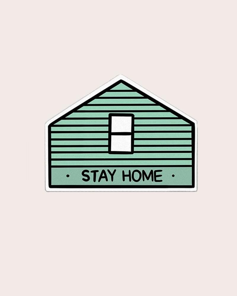 Stay Home Club Stay Home Vinyl Sticker