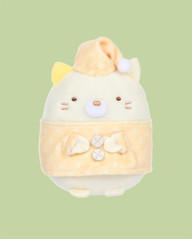 "Sumikko Gurashi© Neko Cat in Pajama 4"" Plush"