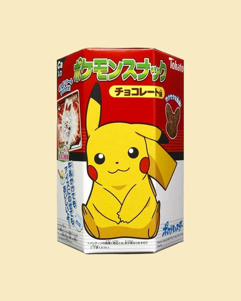Try the Tohato Pokemon Edition Chocolate Corn Puffs