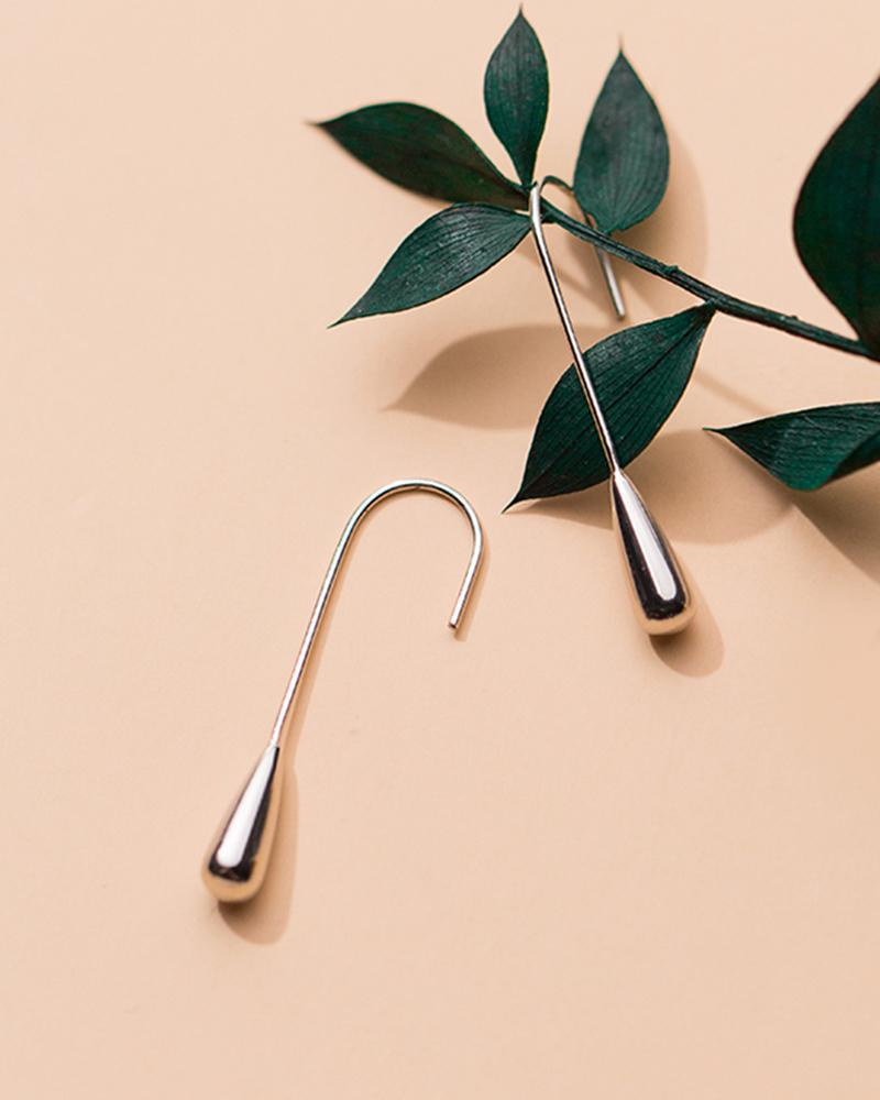Shop sukoshi Water Drop Hook Earrings Silver sterling jewelry collection