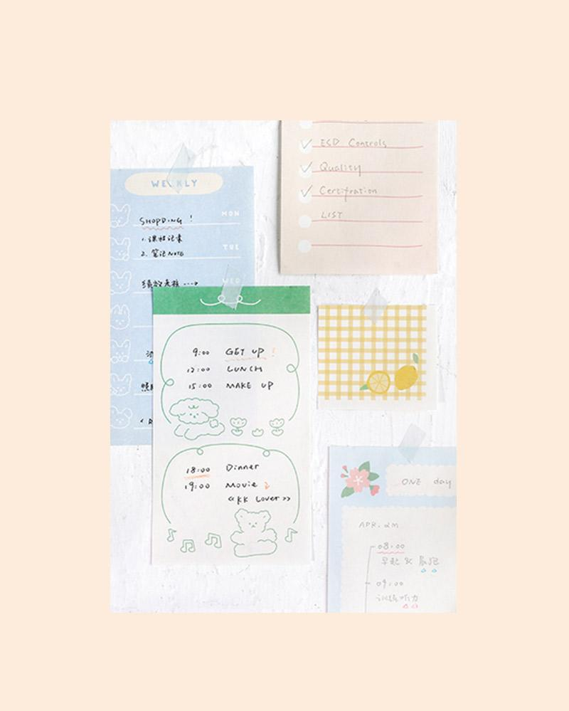 NOTE FOR Memo Inspiration & Love Notepad With Clipboard
