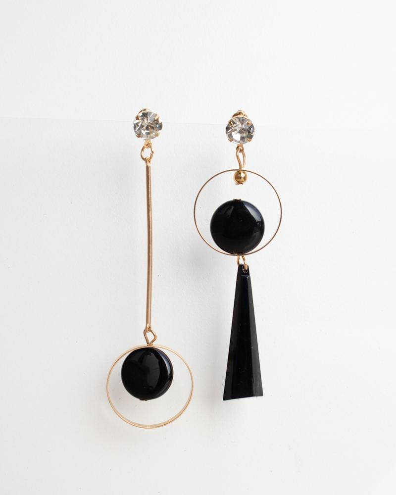 Shop Black Pendulum Dangle Earrings