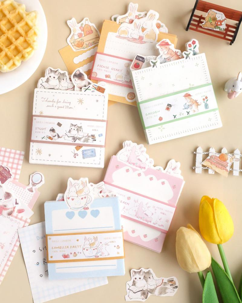 cardlover bunny and cat life sticky notes various styles and designs