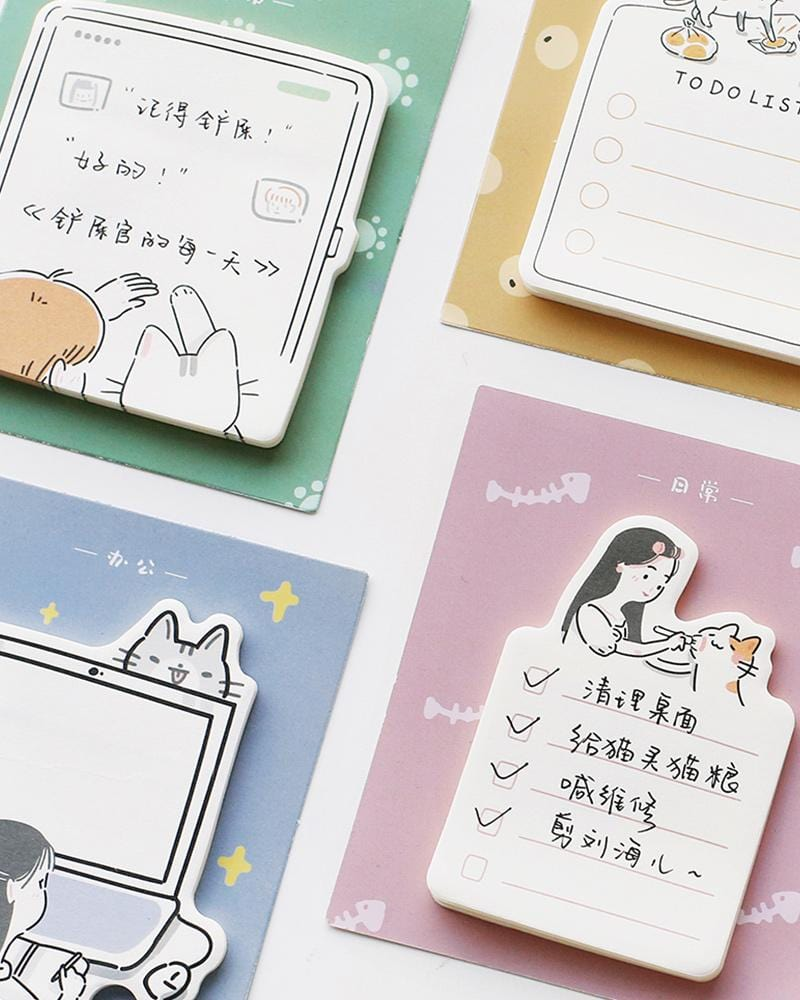 shop buy cardlover my cat roommate sticky notes assorted styles designs colours kitten cute