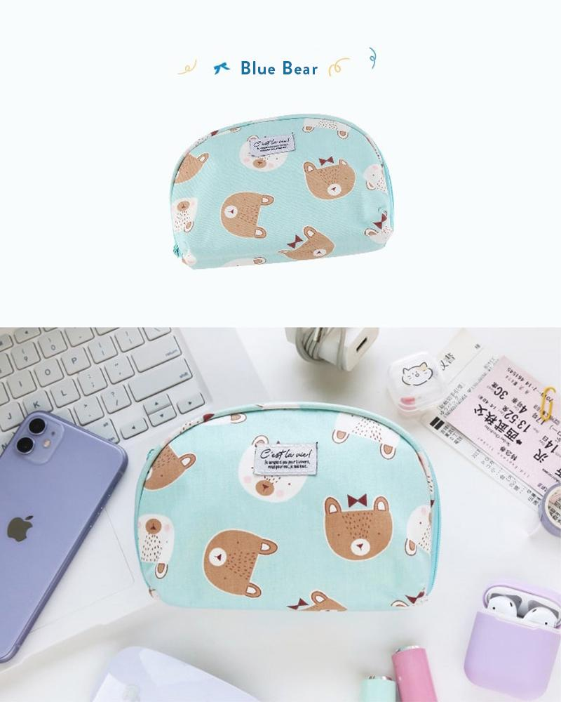 cardlover c'est la vie accessory pouch in the blue bear style