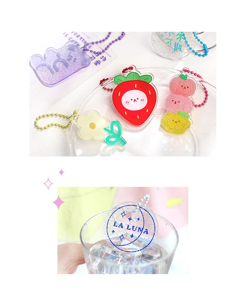 cardlover clear acrylic keychains various assorted designs display