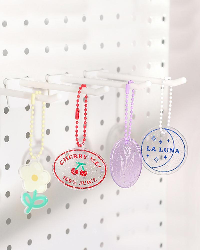 cardlover clear acrylic keychains 4 designs hanging display
