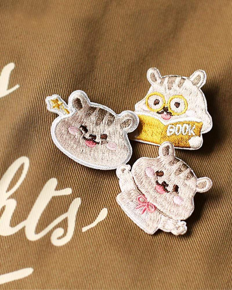 shop cardlover cute hamster embroidered pins