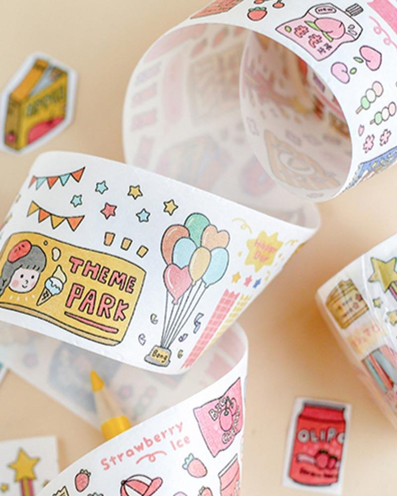 buy shop cardlover dear diary washi masking tape cute assorted designs colours styles