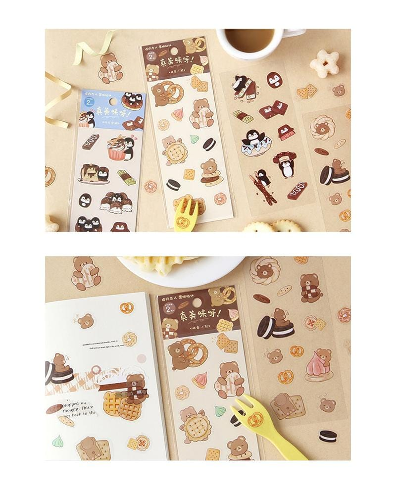 cardlover so delicious food pvc clear stickers various styles and designs all inspired by cute snacks cookies and chocolate versions